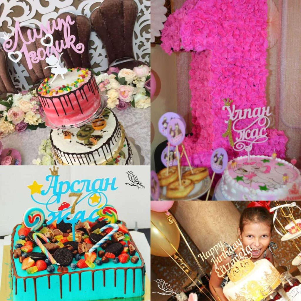 Топпер на торт в Алматы